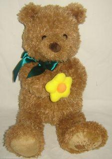 Gund for Edible Arrangements Plush Brown Bear Holding A Plush Yellow