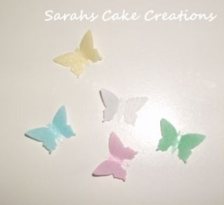 Edible Rice Paper Butterflies x 20 Many Colours Cakes