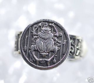 Egyptian Egypt Ring Scarab Beetle Sterling Silver 925