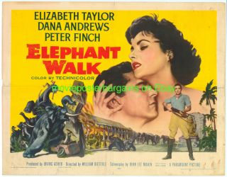 Movie Poster 1954 Half Sheet Elizabeth Taylor lb Fine Folded