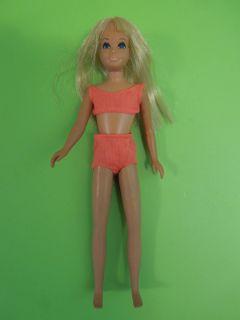 Vintage 1970s Malibu Skipper Doll with Original Swimsuit