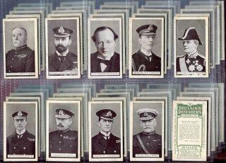 Tobacco Card Set, WD & HO Wills, BRITAIN DEFENDERS,Generals etc, 1915