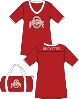 Emerson Street Ohio State Football Jersey College Night Shirt in A Bag
