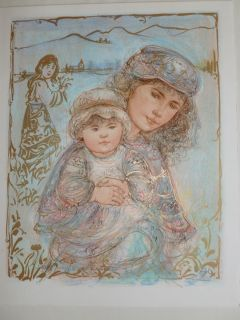 Edna Hibel Valentina and Kore Artist Proof and Pastel Very RARE