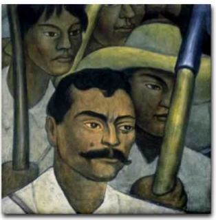 Diego Rivera Mexican Art Ceramic Tile Emiliano Zapata