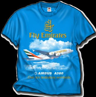 Emirates Airlines Airbus A380 T Shirt High Quality