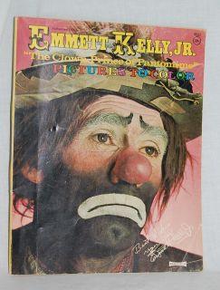 1970 Emmett Kelly Jr Coloring Book Saalfield Publishing