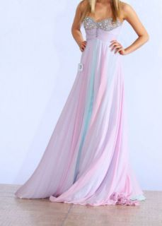 Lavender Blue Sherri Hill Pageant Chiffon Gown Dress Jovani Prom