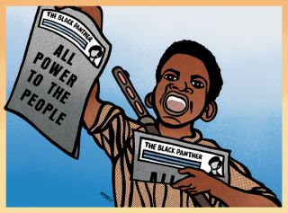 Emory Paper Boy Black Panther Party Political Poster