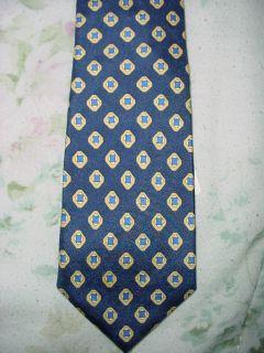 NEW Navy Blue Silk Zipper Tie pre made boys diamond pattern Free ship