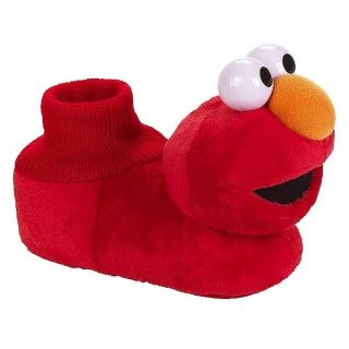 Elmo Sesame Street Toddlers Red Plush Sock Top Slippers Sz 5 6 7 8 or