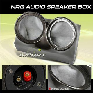 12 Fiberglass Subwoofer Enclosure SEALED Type Twin Speaker Hole Box
