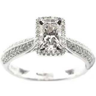 73ct E vs Beautiful Elongated Radiant Diamond Engagement Ring