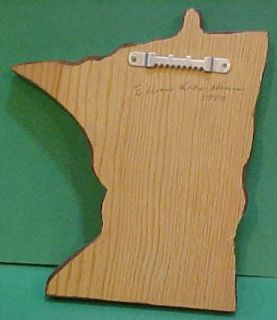1983 Hand Oil Painted Elbow Lake Minnesota Cabin on Wood State Shaped