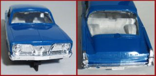 Vintage Blue 1966 Strombecker Plymouth Barracuda Slot Car 1 32
