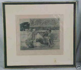 Edwin H Blashfield Signed Engraving King Listed 1887