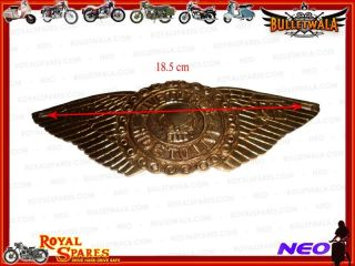 RARE Universal Winged Royal Enfield Toolbox Brass Badge