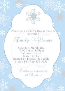 Wonderland Bridal Baby Shower Invitation Engagement Birthday