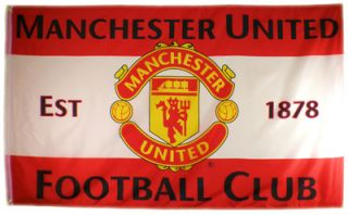 Official Manchester United MUFC Crest Football New Flag