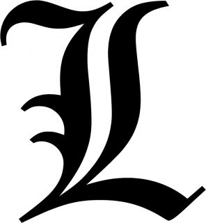 Old English Letter L Initial Decal 9 75 Choose Color