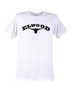 Elwood Old West Skate Longhorn Graphic Tshirt Mens Medium M New White