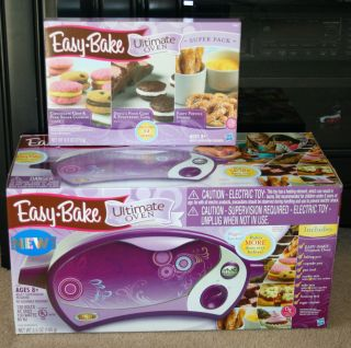 NEW IN BOX Easy Bake Ultimate Oven & Super Pack With 12 Mixes