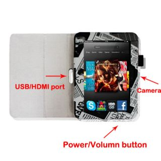 New Kindle Fire HD 7 Leather Case Cover Car Charger Stylus Screen