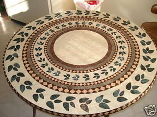 Betty Topper 48 Inch Round Fitted Tablecloth