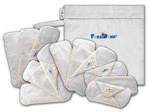 FuzziBunz Fuzzi Bunz Cloth Reusable Menstrual Comfort 12 Pad Bag