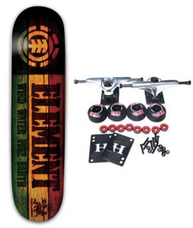 Element Skateboards Rasta Branded Mini 7 25 Complete Skateboard Youth