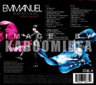 CD + DVD EMMANUEL Acustico En Vivo Mexican Edicion Especial NEW Bonus