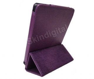 For Kobo Touch eReader Purple Trifold PU Leather Case Cover