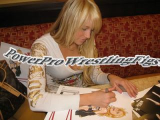 WWE Kelly Kelly Signed Painting with Proof Limited EDT