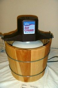Rival Wood Tub Electric Ice Cream Maker Freezer 8550