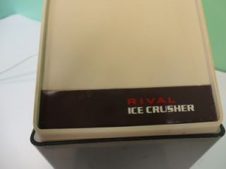 Vintage Rival Electric Ice Crusher Model 840/1 Used Condition