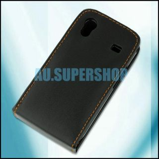 Leather Protector Case for Samsung Galaxy Ace S5830 Blk