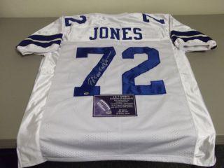 Ed Too Tall Jones Autographed Dallas Cowboys Jersey Hologram COA