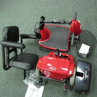 Red 3 Wheel Motorized Electric Wheelchair Scooter Cart