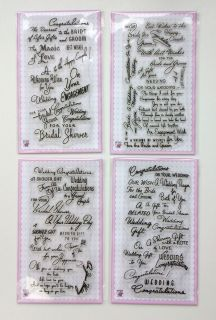 Sets FLONZ Clear Stamps Unmounted UM Acrylic 37 Wedding Wishes