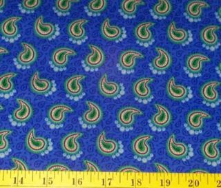 Mary Engelbreit Me Fabric Blue Paisley BTY