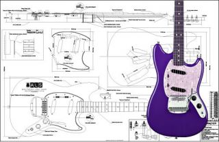 Fender Mustang® Full Scale Electric Guitar Plan