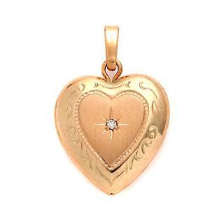 Jewelry Pendants Heart MAJ® 14K Gold Diamond Accented Heart