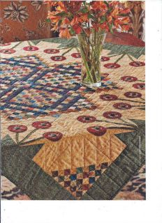 Quilt Pattern Country Garden Raw Edge Applique Advanced