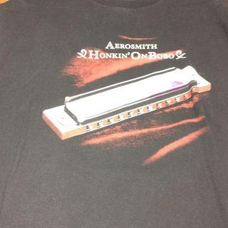 Aerosmith Honkin on Bobo 2004 World Tour T Shirt Size L Harmonica