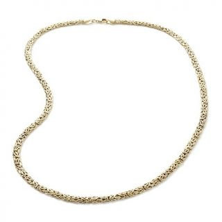 Jewelry Necklaces Chain 14K Gold 4mm Byzantine 18 Necklace