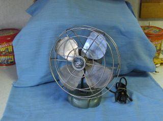 Vintage Metal Zero Model 125OR Fan Good Condition