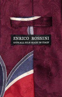 Enrico Rossini Silk Necktie Made in Italy Design Mens Neck Tie 3229 3