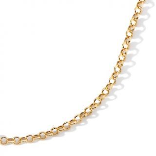 Jewelry Necklaces Chain 14K Gold Rolo Link 16 Necklace