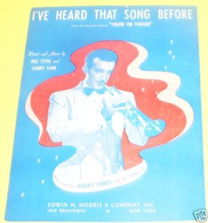 I've Heard That Song Before Harry James 1942 See