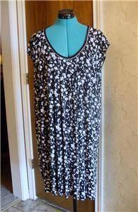Ellen Tracy 1x Sleep Shirt Lounger Style V9310742 Rayon Spandex